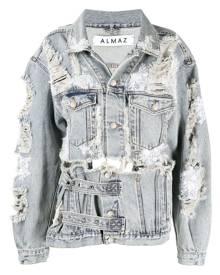 Almaz distressed denim jacket - Grey