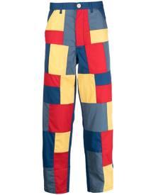 Comme Des Garçons Shirt patchwork straight-leg trousers - Blue