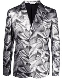 Comme Des Garçons Homme Plus metallic wave print blazer - Silver