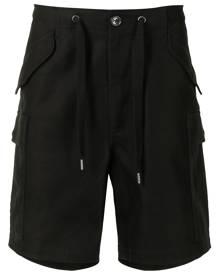 Ports V drawstring cargo shorts - Black
