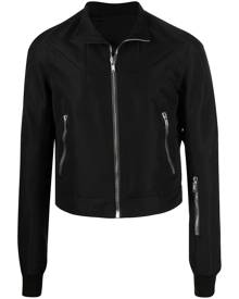 Rick Owens virgin-wool biker jacket - Black