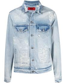 424 faded distressed denim jacket - Blue