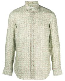 Finamore 1925 Napoli all-over print shirt - Green