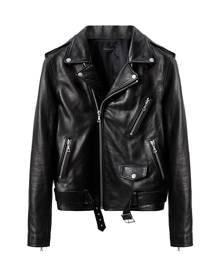 John Elliott zipped biker jacket - Black