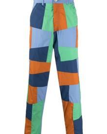 Comme Des Garçons Shirt patchwork pattern cotton trousers - Blue