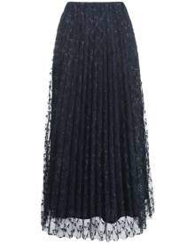 P.A.R.O.S.H. embroidered tulle midi skirt - Blue