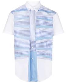 Comme Des Garçons Shirt patchwork shortsleeved shirt - White