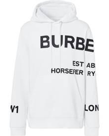 Burberry Horseferry-print hoodie - White