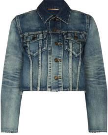 Saint Laurent cropped denim jacket - Blue