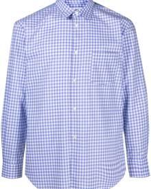 Comme Des Garçons Shirt patchwork gingham shirt - Blue