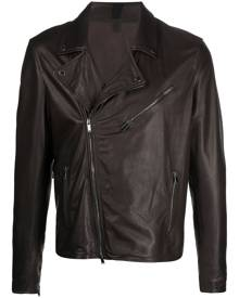 Tagliatore leather biker jacket - Brown