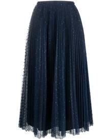 RED Valentino tulle midi skirt - Blue