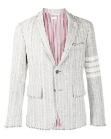 Thom Browne tweed single-breasted blazer - Grey