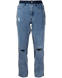 izzue two-tone cropped jeans - Blue