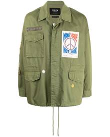FIVE CM multi-patch cotton shirt jacket - Green