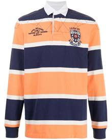 Polo Ralph Lauren block-striped long-sleeve polo shirt - Orange