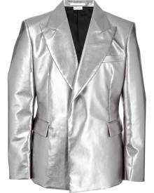 Comme Des Garçons Homme Plus metallic single-breasted blazer - Silver