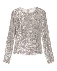 Semsem long-sleeved sequin top - Silver