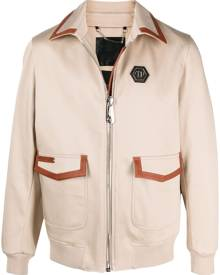 Philipp Plein military cotton shirt jacket - Neutrals