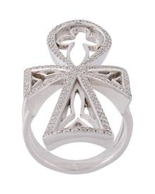 Loree Rodkin diamond maltese cross ring - Metallic