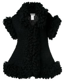 Yohji Yamamoto Vintage knitted sleeveless ruffle jacket - Black