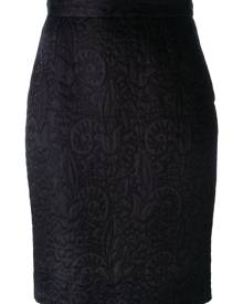 Moschino Vintage jacquard pencil skirt - Black