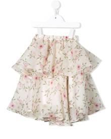 Little Bambah - Rose bud double ruffle skirt - kids - Silk - 2 yrs, 3 yrs, 4 yrs, 5 yrs, 6 yrs, 7 yrs, 8 yrs, 9 yrs, 10 yrs, 11