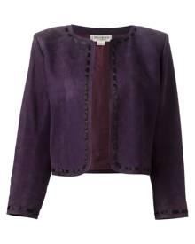 Yves Saint Laurent Vintage cropped jacket - Purple