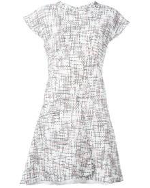 Chanel Vintage - cap sleeve tweed dress - women - Silk/Cotton/Acrylic - 40 - WHITE
