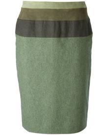 Jean Louis Scherrer Vintage - straight skirt - women - Polyamide/Cashmere/Wool - 36, 42, 44, 46 - GREEN