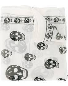 Alexander McQueen - Chiffon Skull Scarf - women - Silk - One Size - NUDE & NEUTRALS