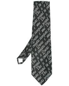Moschino Vintage quote intarsia knit tie - Black