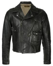 Fake Alpha Vintage 1940s Harley Davidson motorcycle jacket - Black