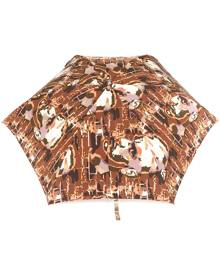 Jean Paul Gaultier Vintage - face printed umbrella - unisex - Nylon/metal - One Size - BROWN