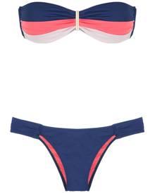 Brigitte bandeau bikini set - Blue