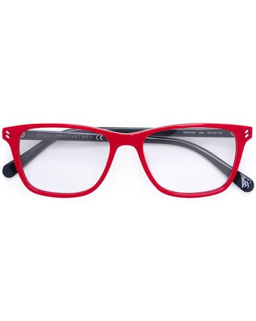 Stella Mccartney Kids square frame glasses - Red
