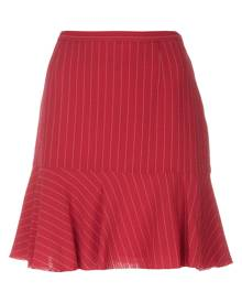 Moschino Vintage - pinstripe mini skirt - women - Polyester/Acetate/Rayon/Wool - 44 - RED