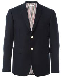 Thom Browne Classic Single Breasted Sport Coat In 2 Ply Fresco - Blue