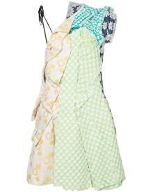 Comme Des Garçons Vintage - patchwork dress - women - Cotton/Polyester - M - YELLOW & ORANGE