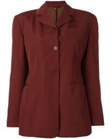 Romeo Gigli Vintage - classic blazer - women - Cupro/Wool - 42 - RED