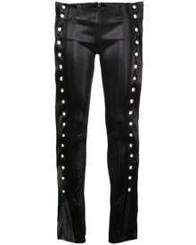 Paula Knorr eyelets stretch jeans - Metallic