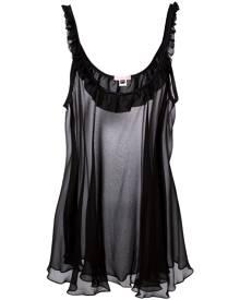 Gilda & Pearl - 'Bardot Black Babydoll' slip - women - Silk/Spandex/Elastane - S/M - BLACK