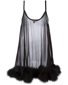 Gilda & Pearl - 'Diana' babydoll - women - Silk/Feather Down - S/M - BLACK