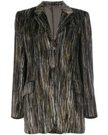 Moschino Vintage striped velour jacket - Multicolour