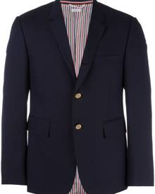 Thom Browne Classic Single Breasted Sport Coat In Super 120's Twill - Blue