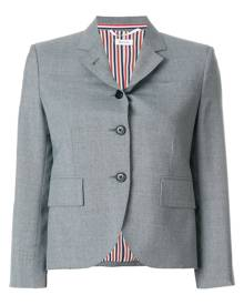 Thom Browne Classic Single Breasted Sport Coat In School Uniform Plain Weave - Grey