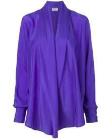 Versus Vintage draped waterfall shirt - Purple