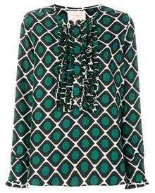 La Doublej - tuxedo shirt - women - Silk - XS, S, M, L - GREEN
