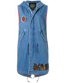 Mr & Mrs Italy sleeveless denim vest - Black