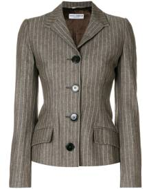 Dolce & Gabbana Vintage fitted pinstripe jacket - Brown